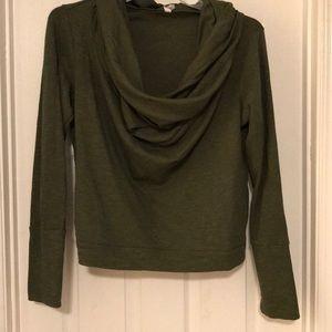 Lucy Yoga Wear Cowl Neck Shirt-XL